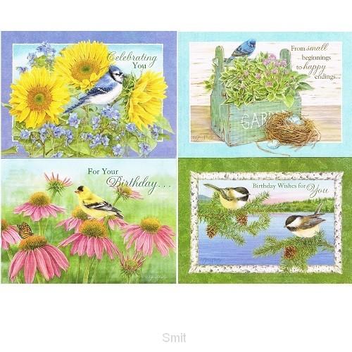 Cards birthday God's serenity set4