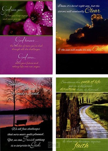 Cards thinking of you paths of life set4