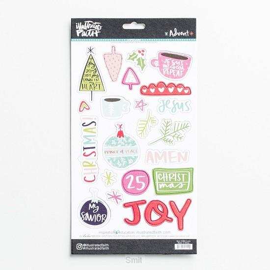 Advent - Chipboard sticker