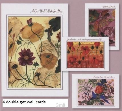 Cards get well peace en grace set4