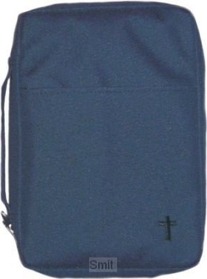 Biblecover canvas blue cross xlarge