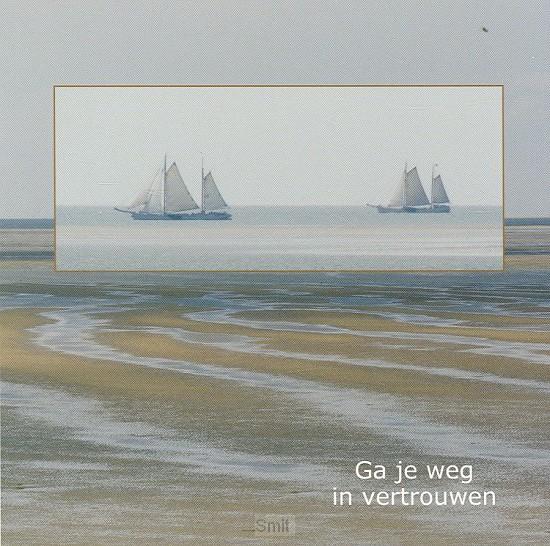 Wenskaart schepen op wad