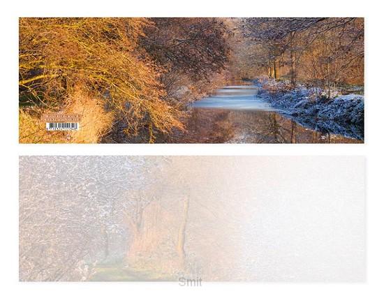 Panoramawenskaart Winter aan de wiek