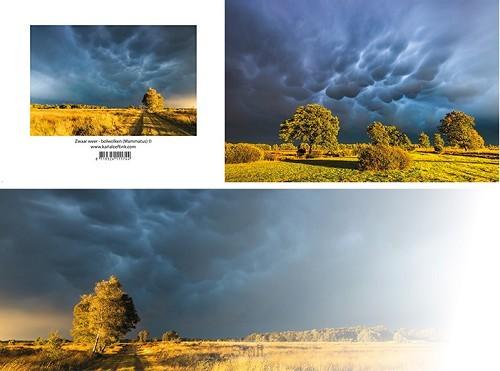 Panoramawenskaart zt zwaar weer bolwolke