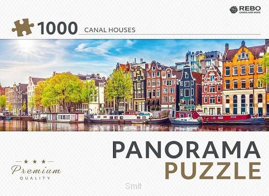Rebo legpuzzel panorama 1000 stukjes - Canal houses