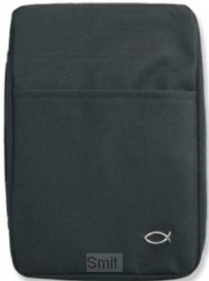 Biblecover classic fish black xlarge