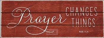 Rustic treasure prayer changes