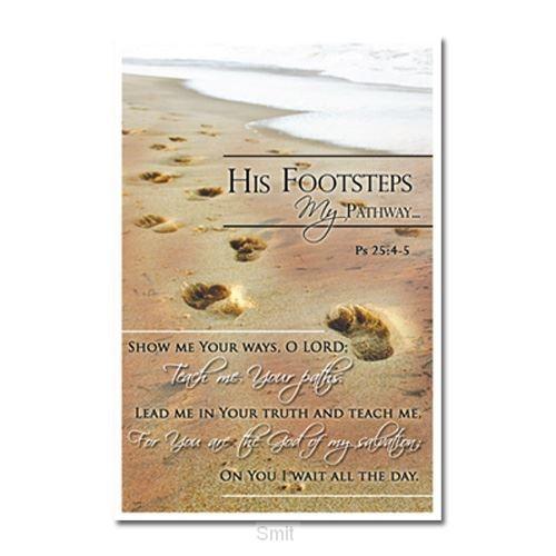 Laminated card his footprints set5