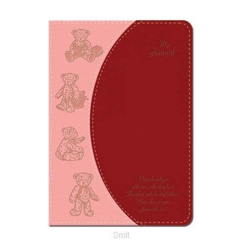 Lux leather journal teddy bear jer 31:3