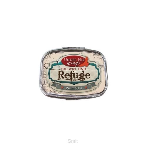 Travel pill case refuge