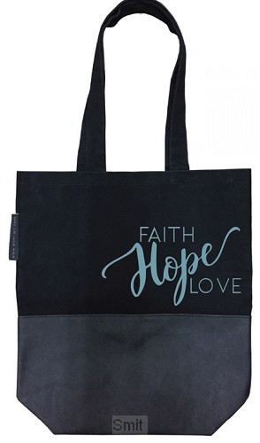Canvas shopping bag faith hope love
