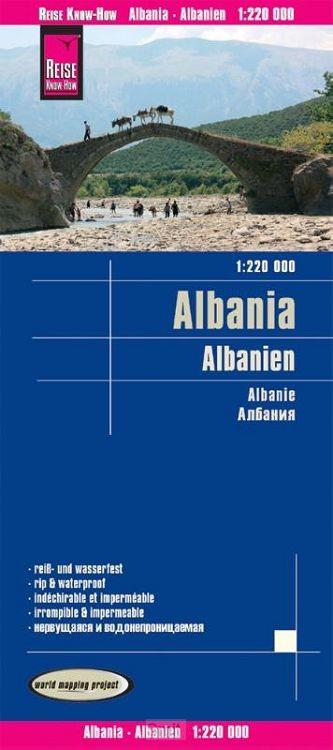 Reise Know-How Landkarte Albanien 1 : 220.000