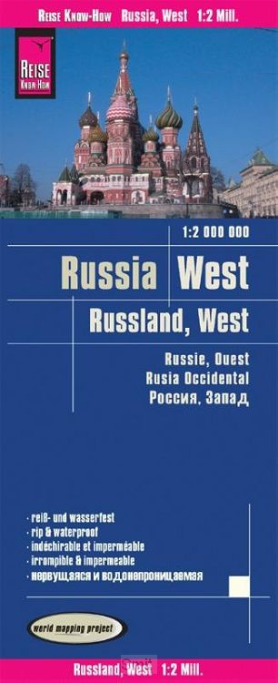 Reise Know-How Landkarte Russland West  1 : 2.000 000