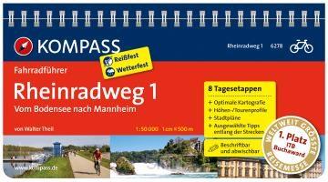 FF6278 Rheinradweg 1, Bodensee nach Mannheim Kompass