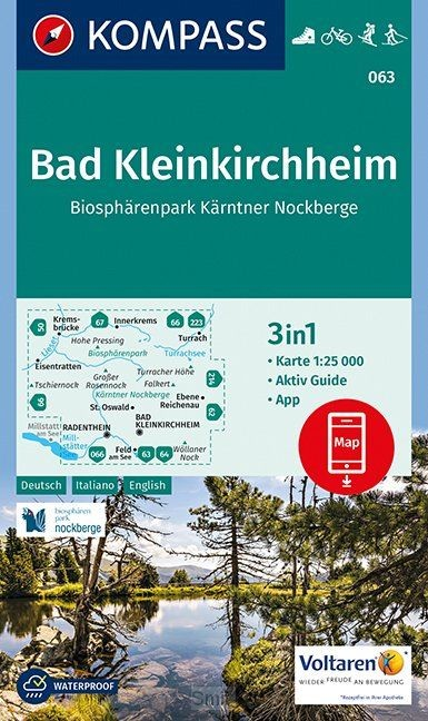 Kompass WK063 Bad Kleinkirchheim, Biosphärenpark Kärntner Nockberge