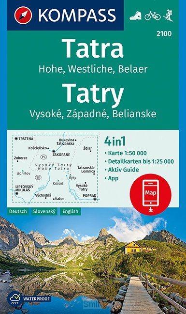 Tatra, Hohe, Wesltiche, Belaer, Tatry, Vysoké, Západné, Belianske 1:50 000