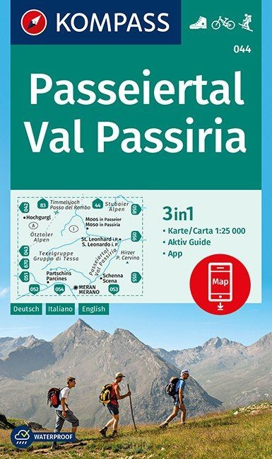 Passeiertal, Val Passiria 1 : 25 000