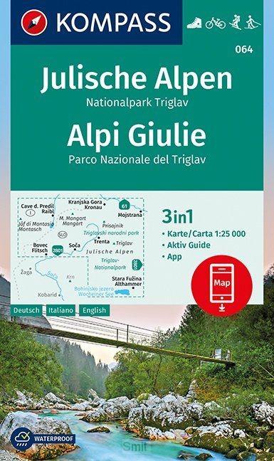 Julische Alpen, Nationalpark Triglav, Alpi Giulie 1:25 000