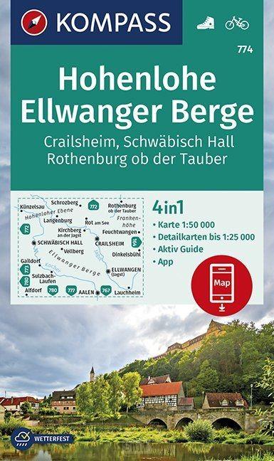 Hohenlohe, Ellwanger Berge, Crailsheim, Schwäbisch Hall, Rothenburg ob der Tauber 1:50 000