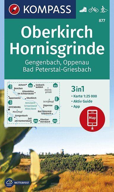 Oberkirch, Hornisgrinde, Gengenbach, Oppenau, Bad Peterstal-Griesbach 1:25 000