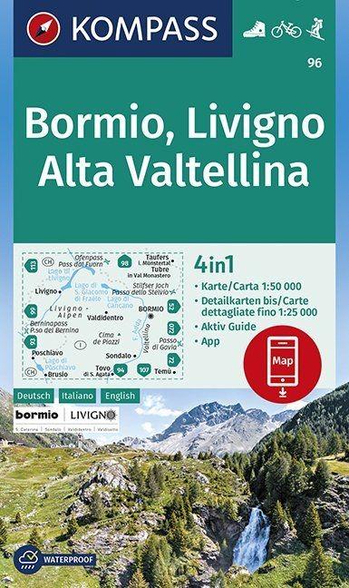 Bormio, Livigno, Alta Valtellina 1:50 000