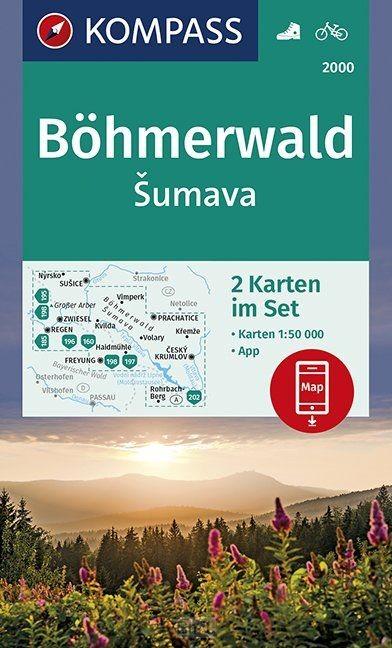 Böhmerwald, sumava 1:50 000