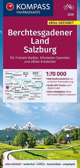 KOMPASS Fahrradkarte Berchtesgadener Land, Salzburg 1:70.000, FK 3336