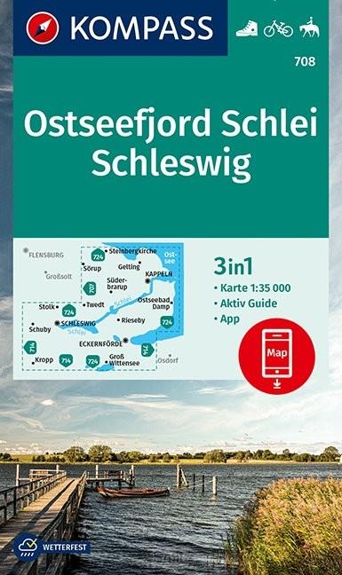 KOMPASS Wanderkarte Ostseefjord Schlei, Schleswig 1:35 000