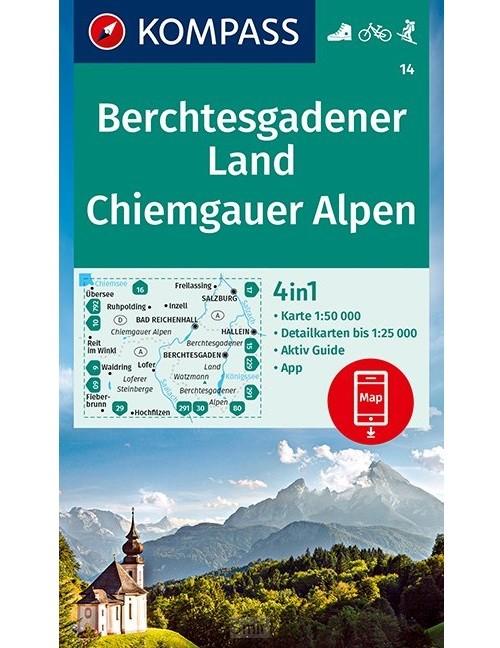 KOMPASS Wanderkarte Berchtesgadener Land, Chiemgauer Alpen 1:50 000