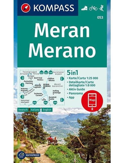 KOMPASS Wanderkarte Meran, Merano 1:25 000