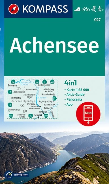 KOMPASS Wanderkarte Achensee 1:35 000