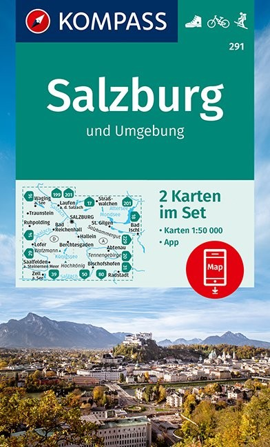 KOMPASS Wanderkarte Salzburg und Umgebung 1:50 000