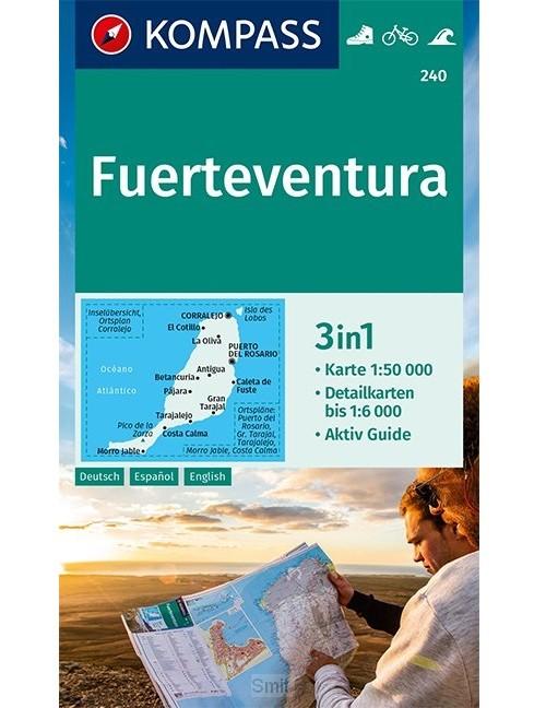 KOMPASS Wanderkarte Fuerteventura 1:50 000