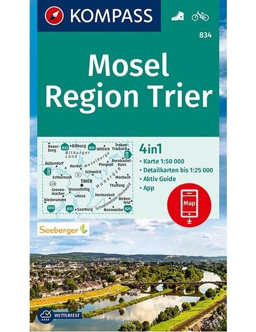 Kompass WK834 Mosel, Region Trier
