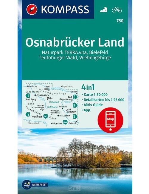 KOMPASS Wanderkarte Osnabrücker Land 1 : 50 000