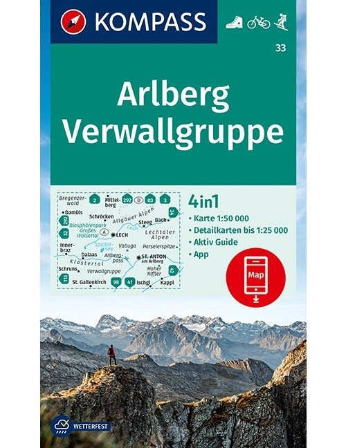 Kompass WK33 Arlberg, Verwallgruppe