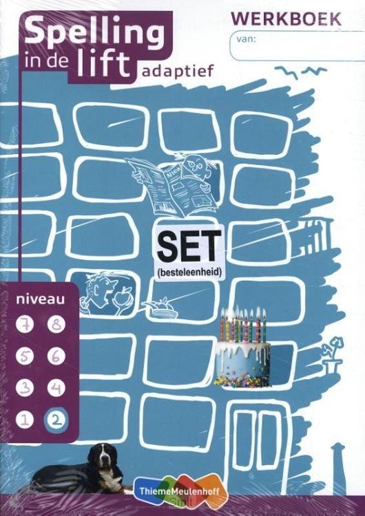 Spelling in de lift adaptief - werkboekjes niveau 2 (set van 5)