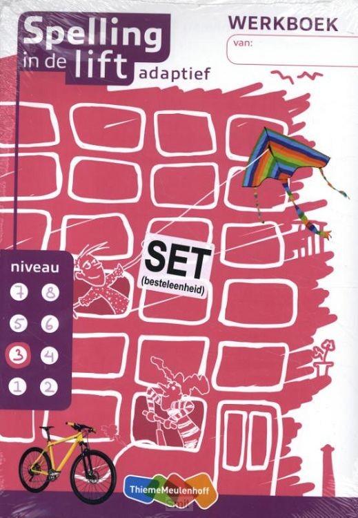 Spelling in de lift adaptief - werkboekjes niveau 3 (set van 5)