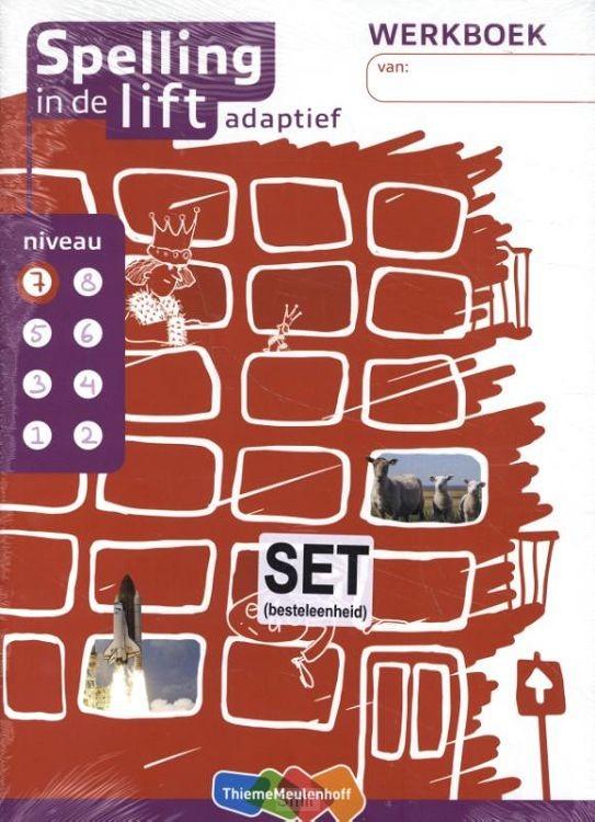 Spelling in de lift adaptief - werkboekjes niveau 7 (set van 5)