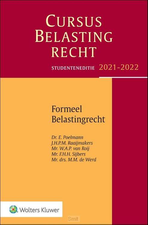 Cursus Belastingrecht Formeel Belastingrecht / Formeel belastingrecht2021-2022