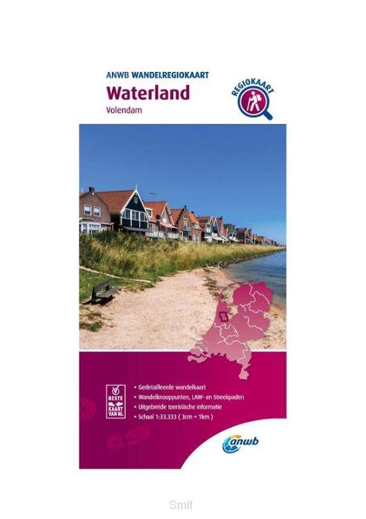 Wandelregiokaart Waterland 1:33.333