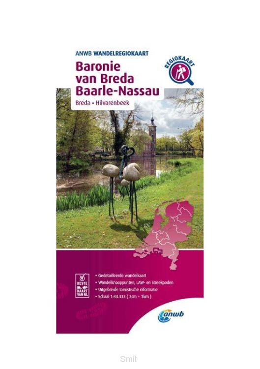 Wandelregiokaart Baronie van Breda, Baarle-Nassau 1:33.333