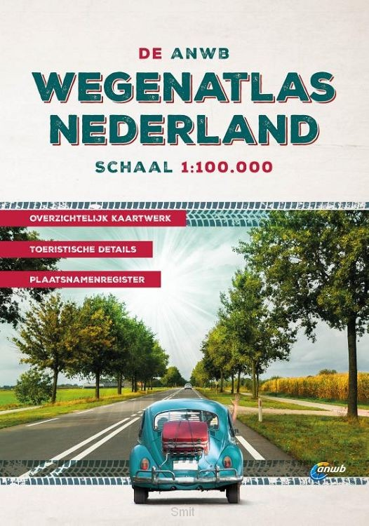 De ANWB Wegenatlas Nederland 1:100.000