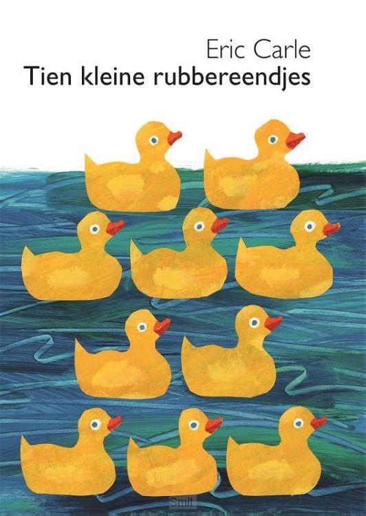 Tien kleine rubbereendjes kartonboekje
