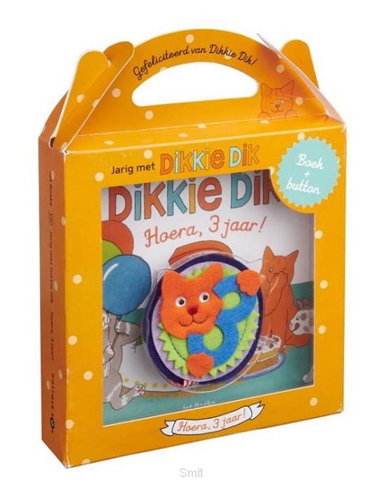 Jarig met Dikkie Dik - Hoera, 3 jaar!
