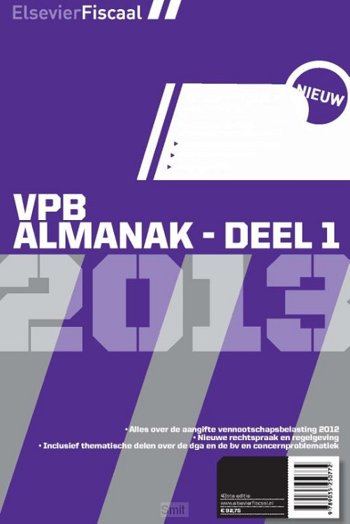 Elsevier vpb almanak / Deel 1 2013