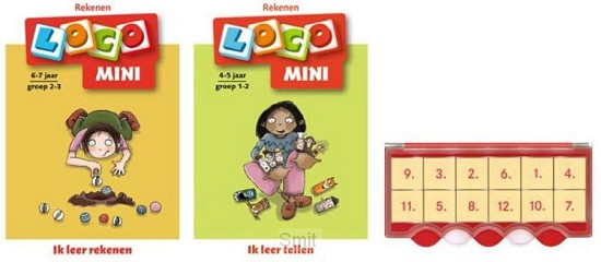 Loco Mini ik leer rekenen 5+ (doos + 2 boekjes)