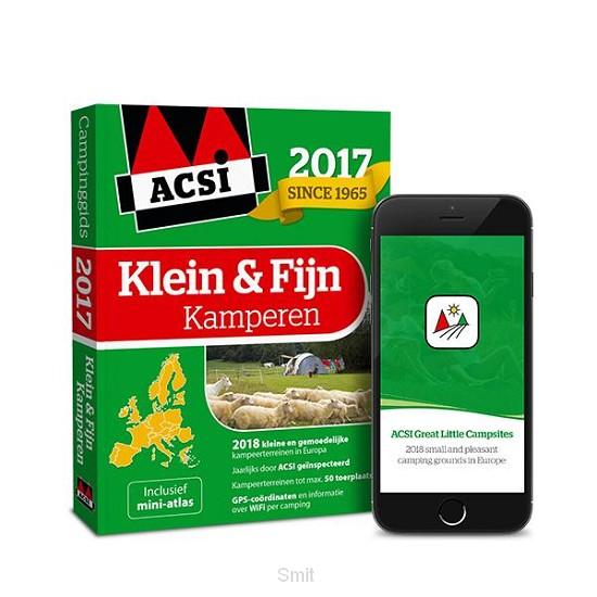 ACSI Klein & Fijn Kamperen Gids 2017 + app