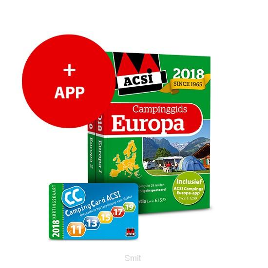 ACSI Campinggids Europa + app 2018
