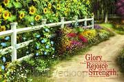 Glory Rejoice Strength (Poster 23x34cm)